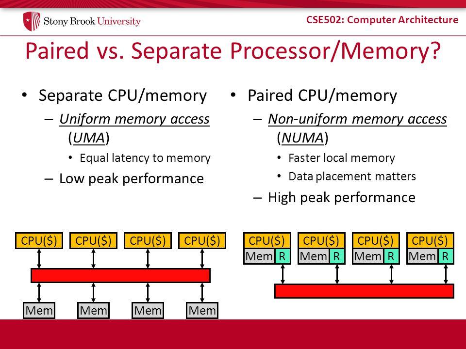 CSE502: Computer Architecture Shared vs.