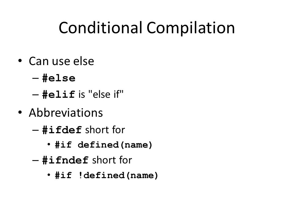 Conditional Compilation Comment out code – Cannot use /*...