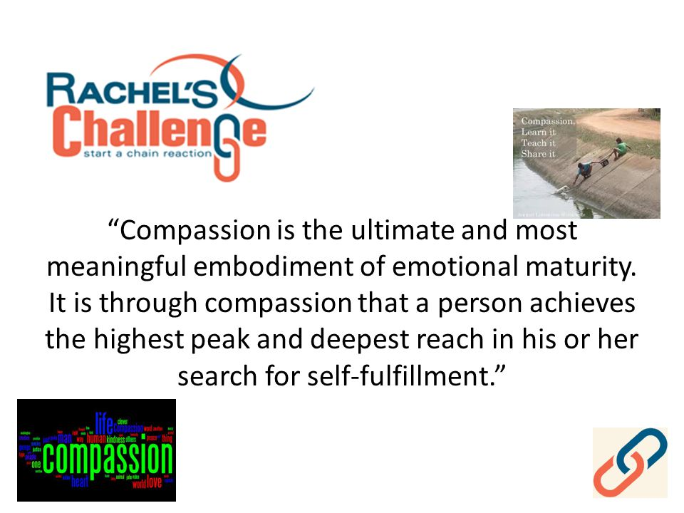 Compassion is the ultimate and most meaningful embodiment of emotional maturity.