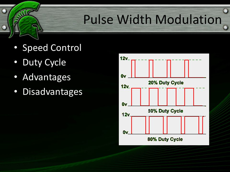 Speed Control Duty Cycle Advantages Disadvantages Pulse Width Modulation