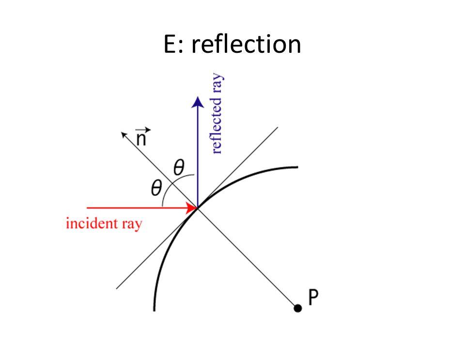 E: reflection