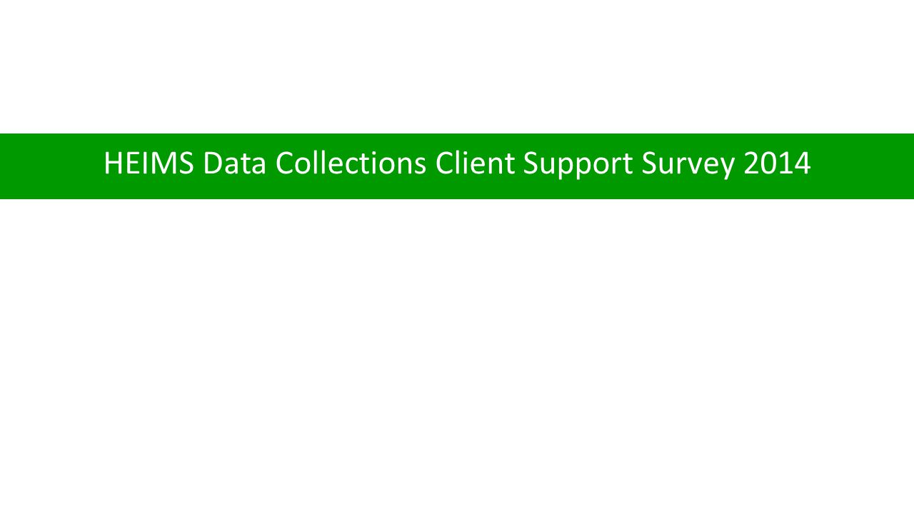 HEIMS Data Collections Client Support Survey 2014