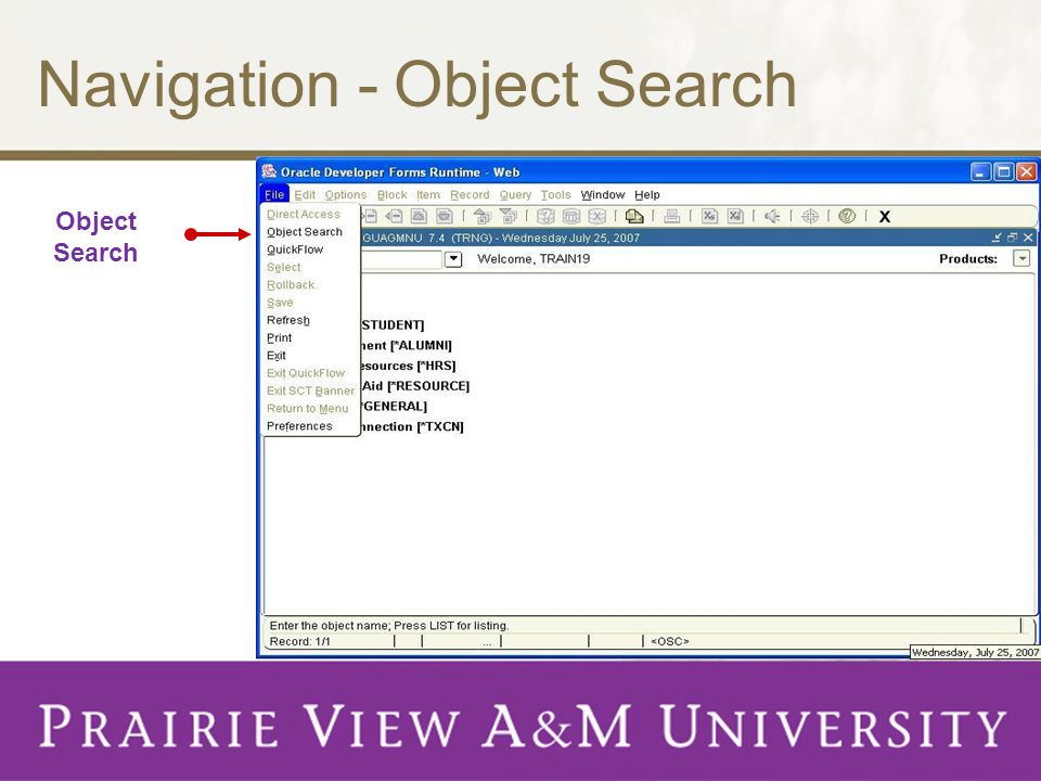 Navigation - Object Search Object Search