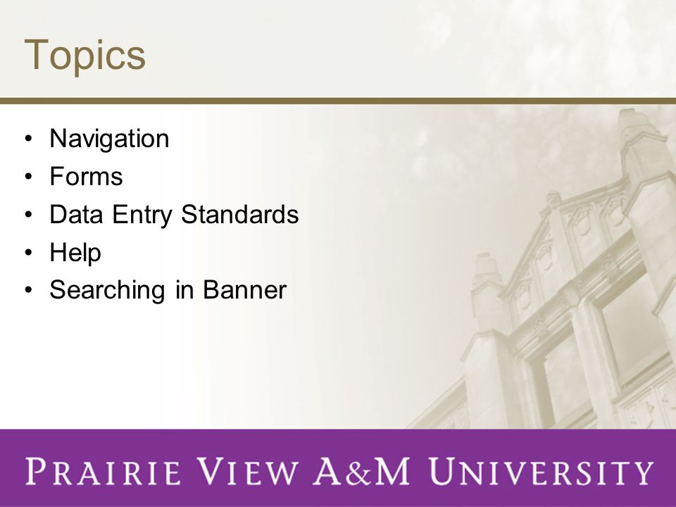 Types of Banner Records General Person - Students, faculty, and staff Non-Person - Businesses, grant programs, research agencies, etc.