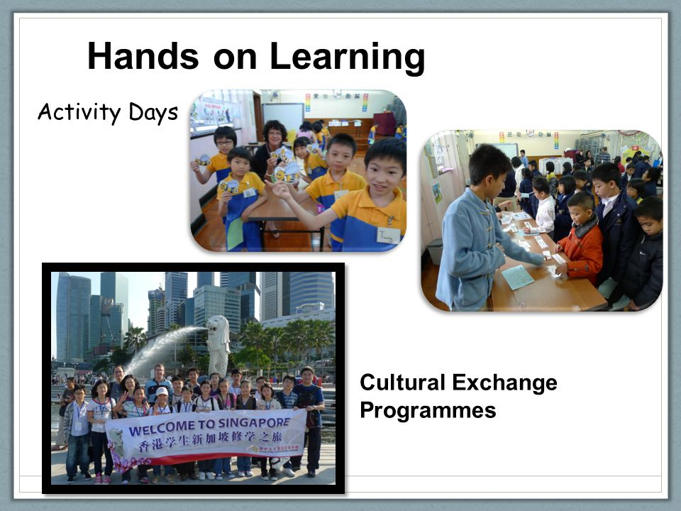 Hands on Learning Cultural Exchange Programmes Activity Days