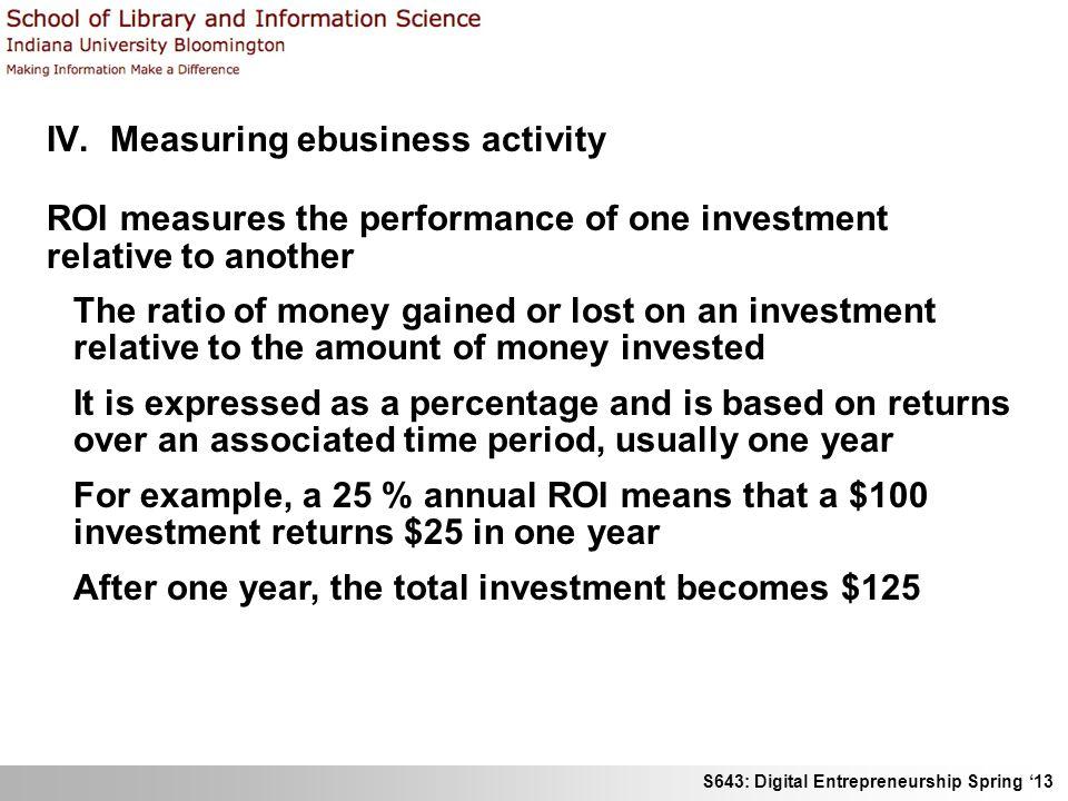 S643: Digital Entrepreneurship Spring '13 IV.