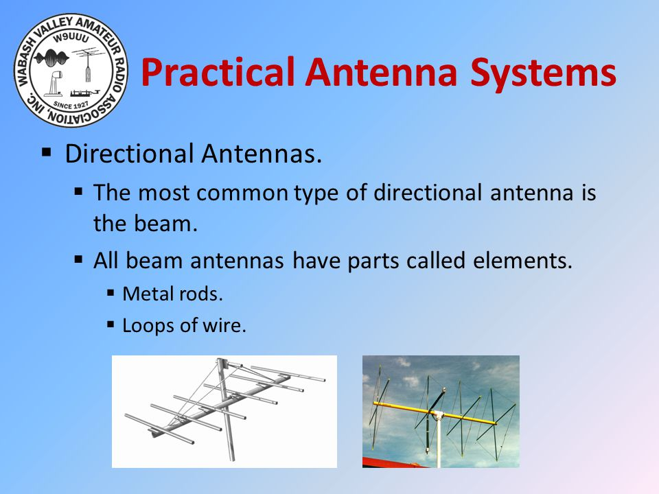 Practical Antenna Systems  Directional Antennas.