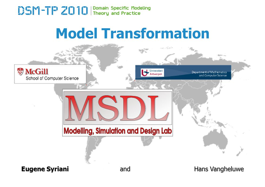 Model Transformation Types of transformations manipulation A model transformation performs a manipulation on a model.