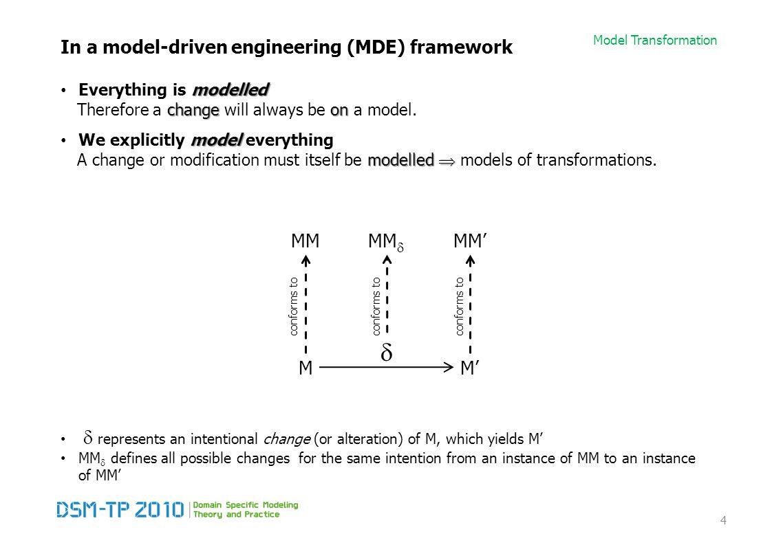 Model Transformation References [OMG03] OMG.MDA Guide version 1.0.1, 2003.