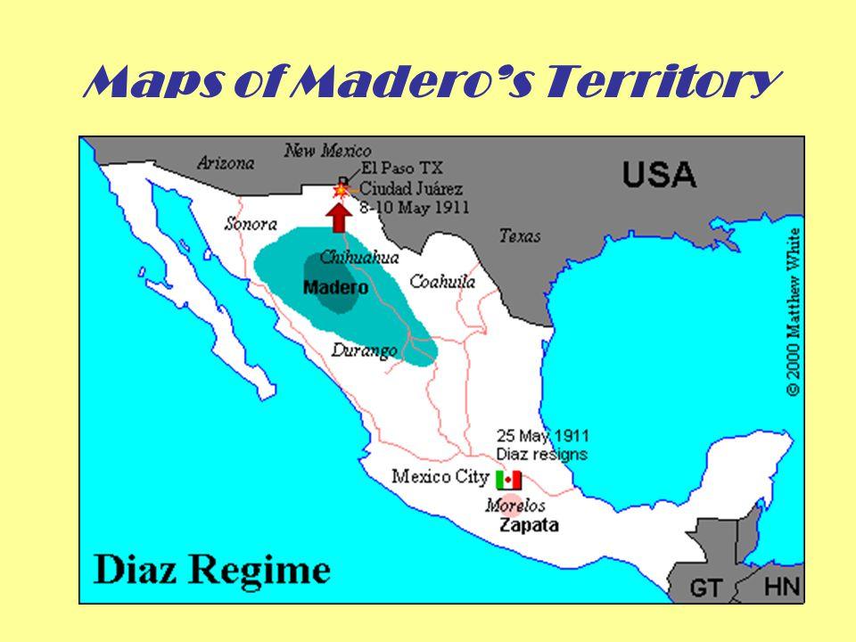 Maps of Madero's Territory