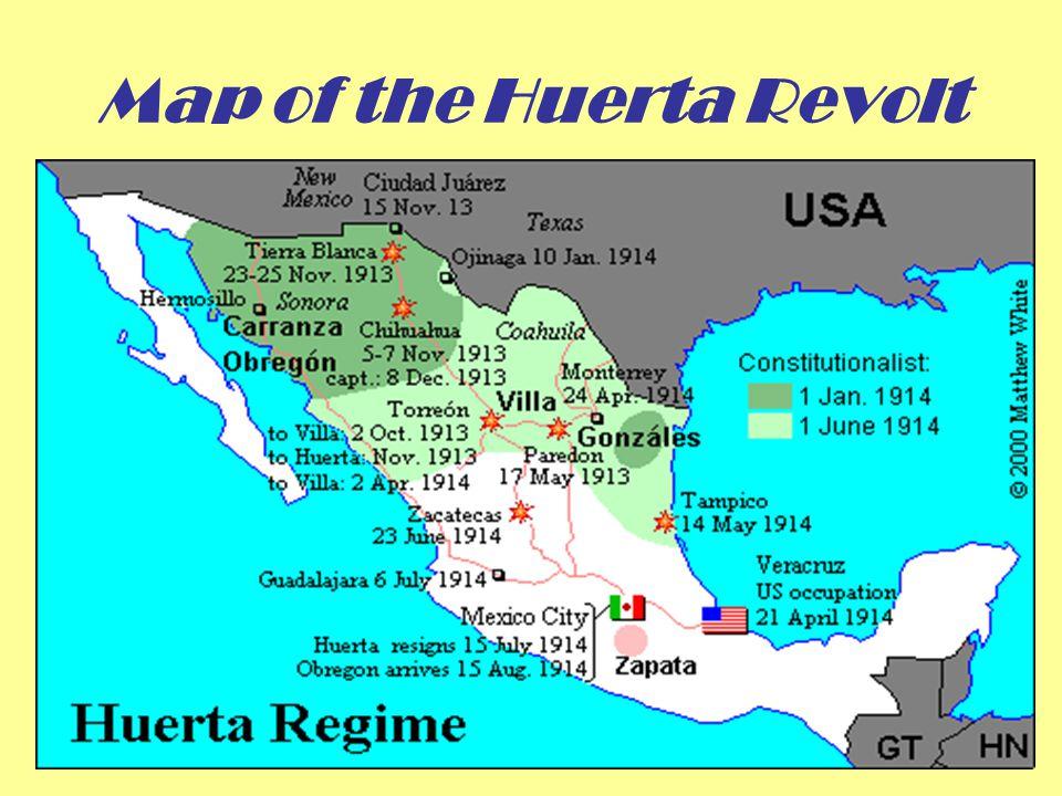 Map of the Huerta Revolt