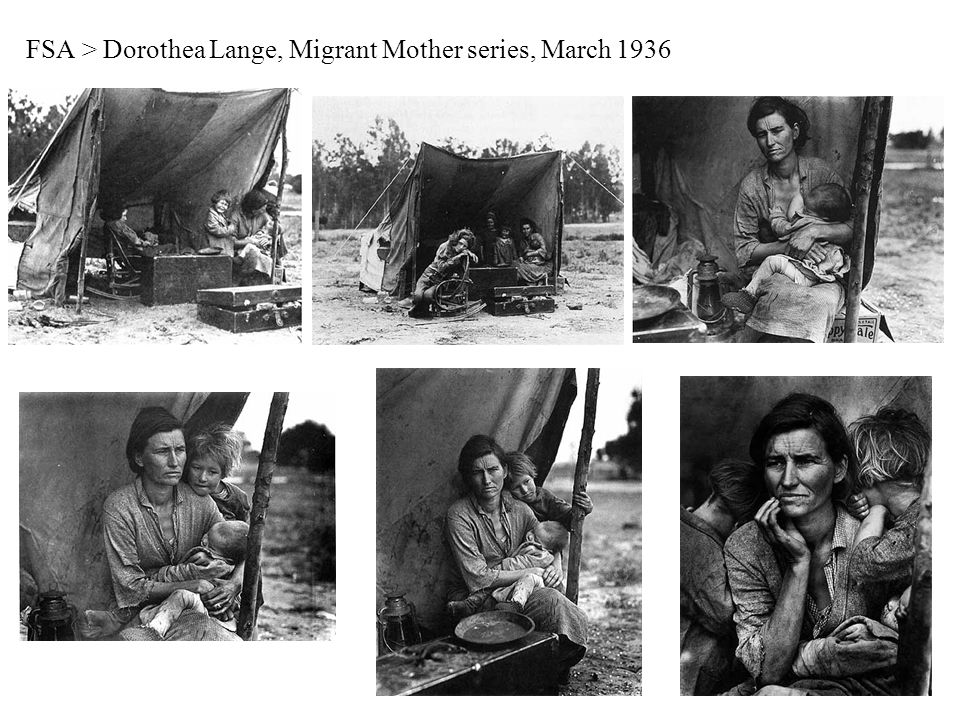 FSA > Dorothea Lange, Migrant Mother series, March 1936