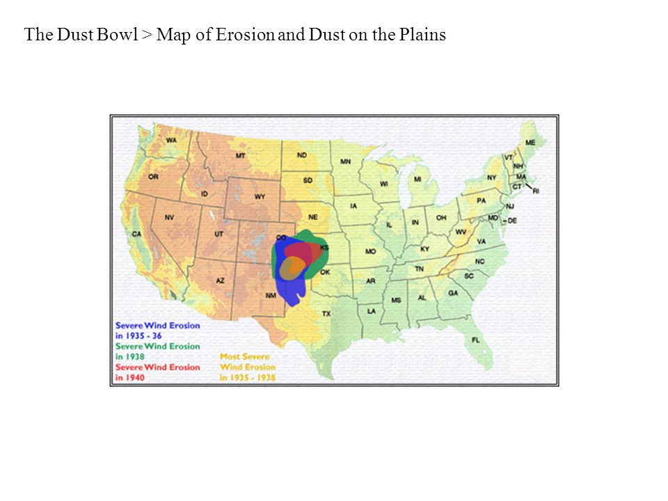 The Dust Bowl > Map of Erosion and Dust on the Plains