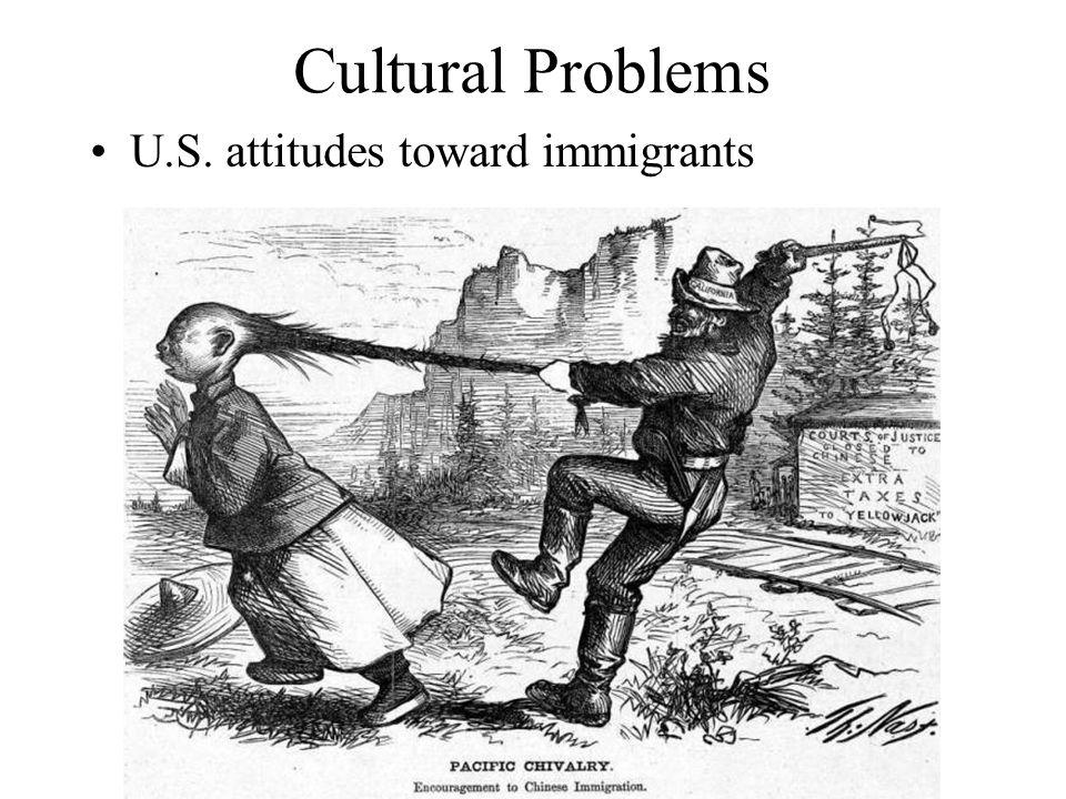 Cultural Problems U.S. attitudes toward immigrants