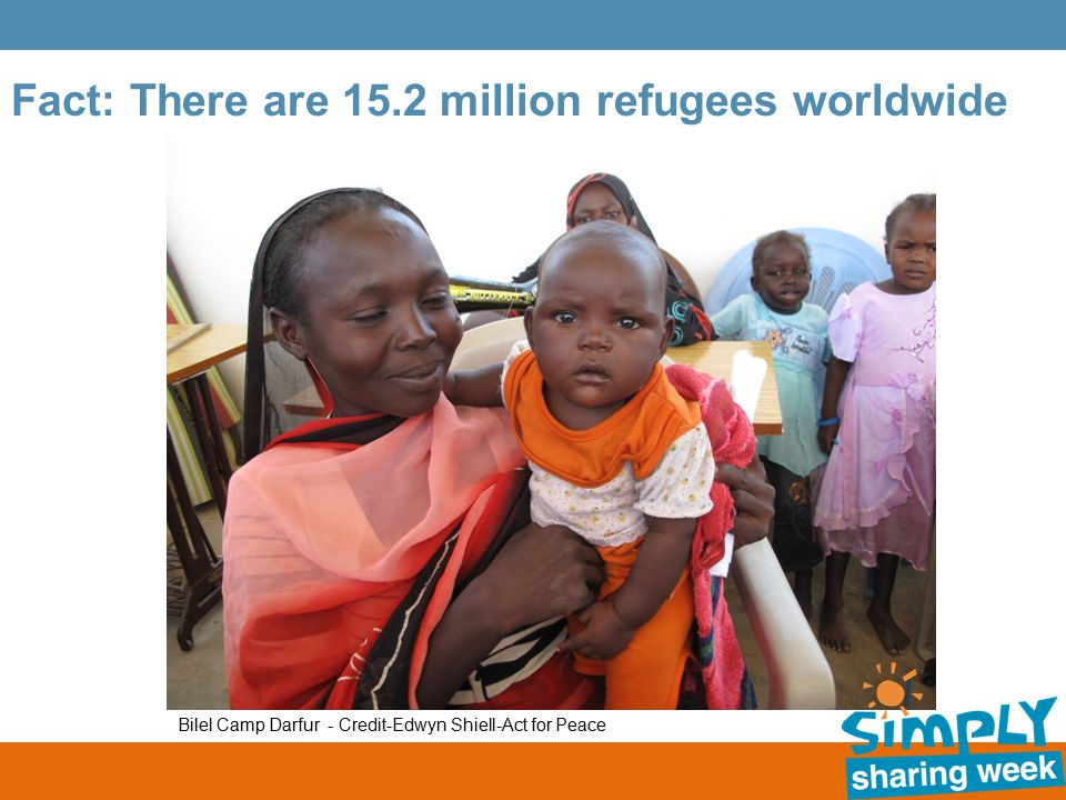 Fact: There are 15.2 million refugees worldwide Bilel Camp Darfur - Credit-Edwyn Shiell-Act for Peace