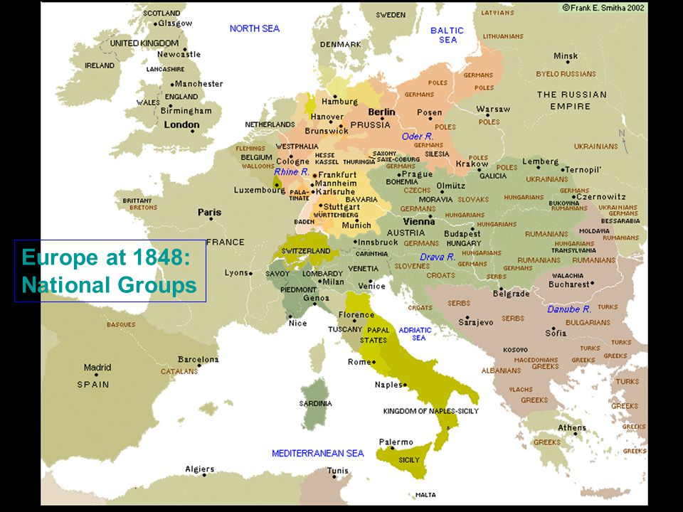 Europe at 1848: National Groups