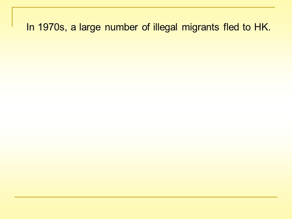 As the problem of illegal migrants was getting serious, the HK government decided to abandon the Touch Base Policy from 24 October, 1980.