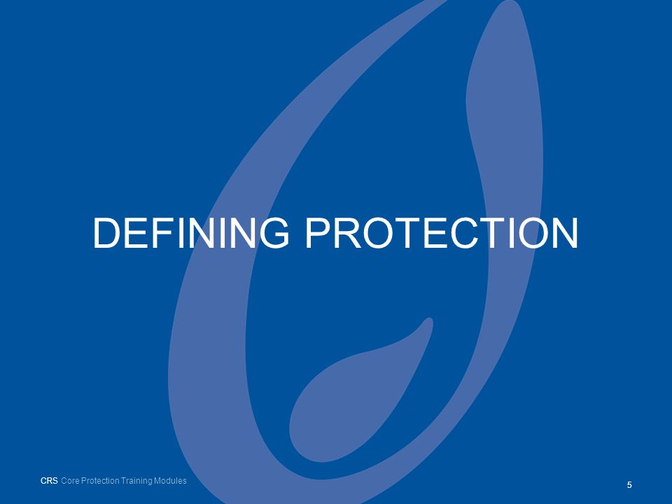 DEFINING PROTECTION 55 CRS Core Protection Training Modules