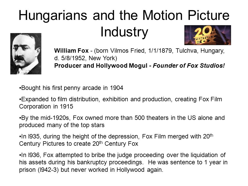 Hungarians in the Motion Picture Industry George Cukor - (b.
