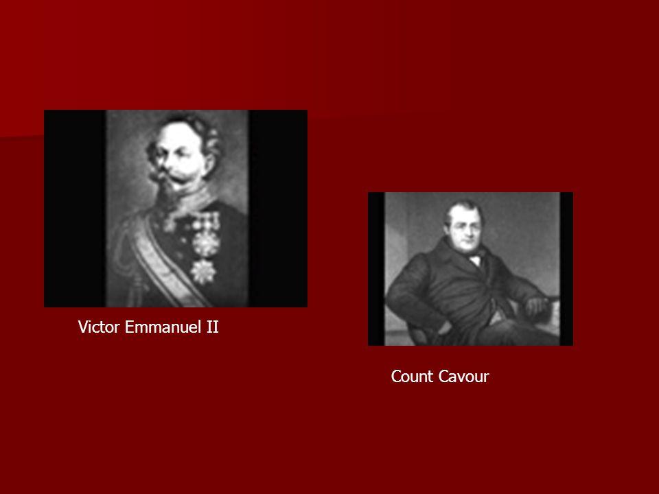 Victor Emmanuel II Count Cavour