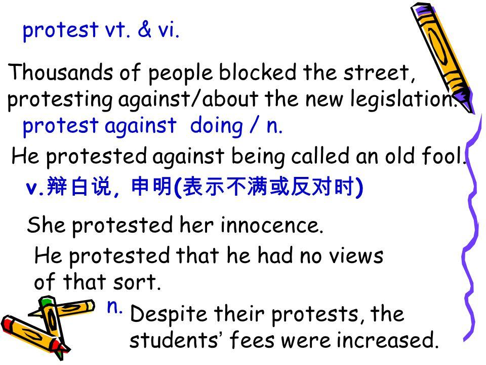 protest vt. & vi.