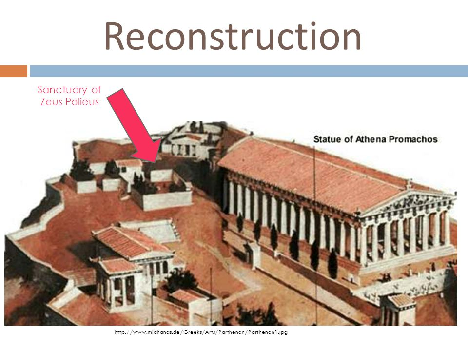 Reconstruction Sanctuary of Zeus Polieus http://www.mlahanas.de/Greeks/Arts/Parthenon/Parthenon1.jpg