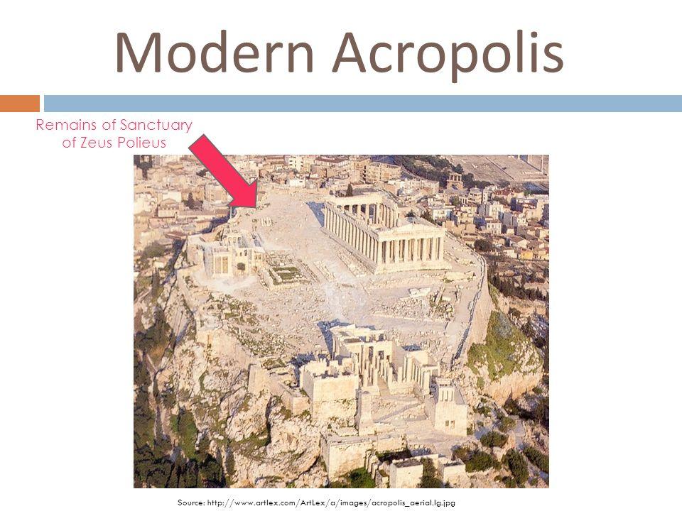 Modern Acropolis Remains of Sanctuary of Zeus Polieus Source: http://www.artlex.com/ArtLex/a/images/acropolis_aerial.lg.jpg