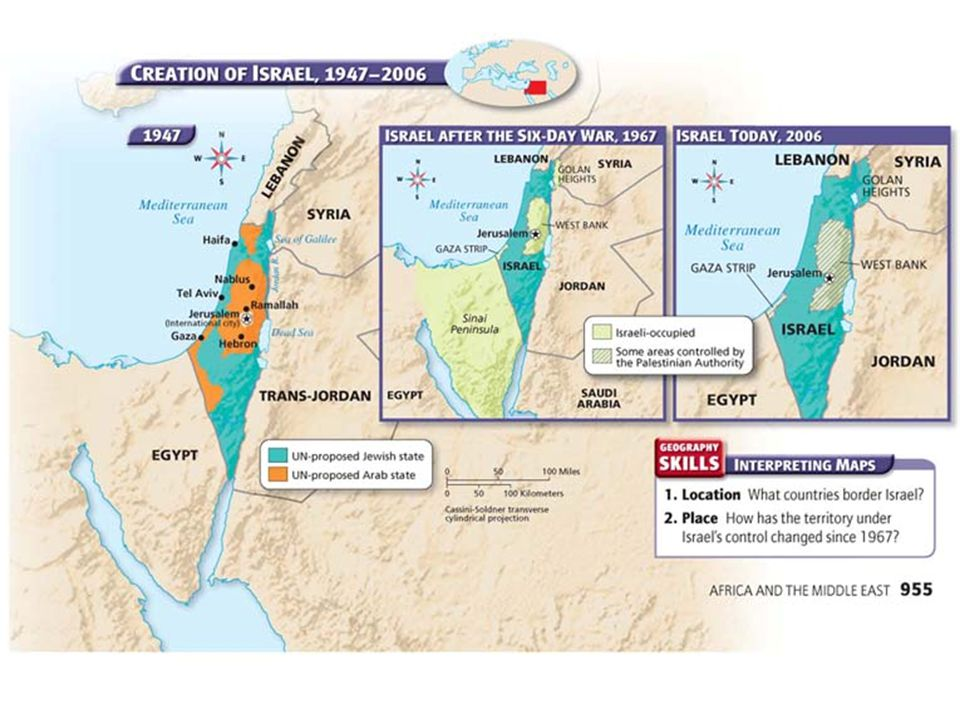 The Arab-Israeli conflict that began in 1948 has continued through the years.