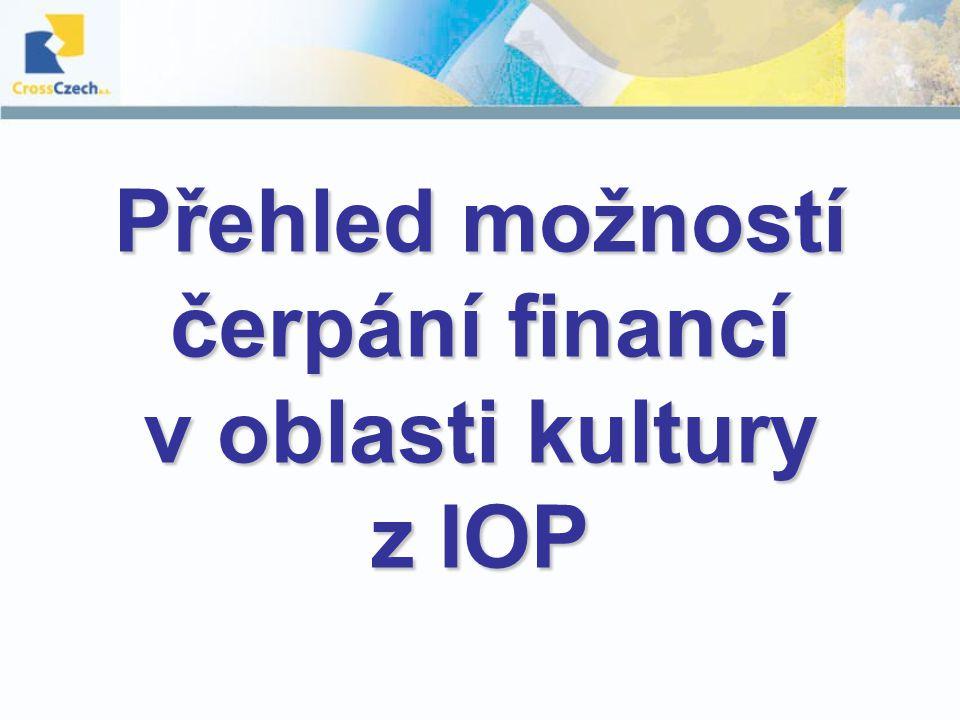 Přehled možností čerpání financí v oblasti kultury z IOP