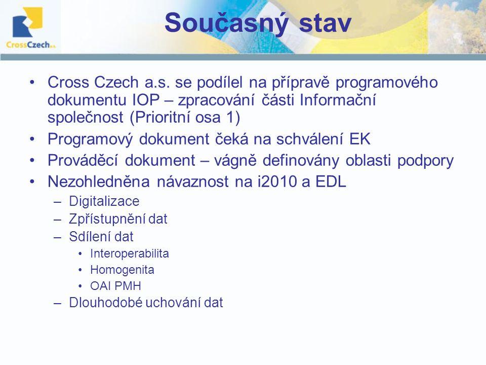 Současný stav Cross Czech a.s.