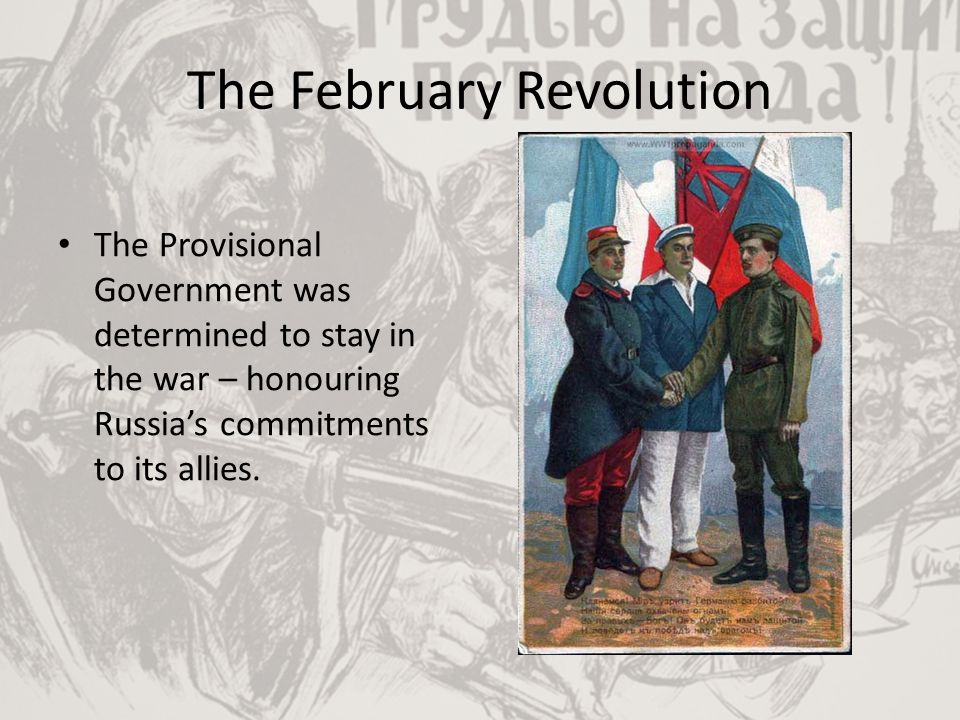 The February Revolution Order #1 of the Petrograd Soviet – which also claimed authority -significantly undermined Russia's war effort.