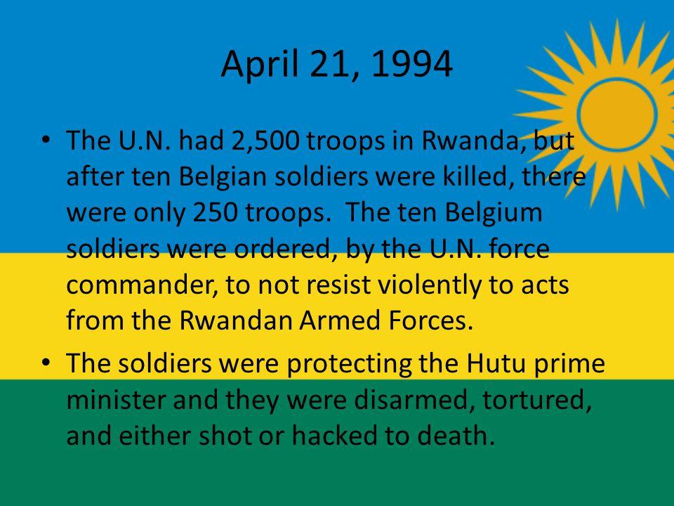 April 21, 1994 The U.N.