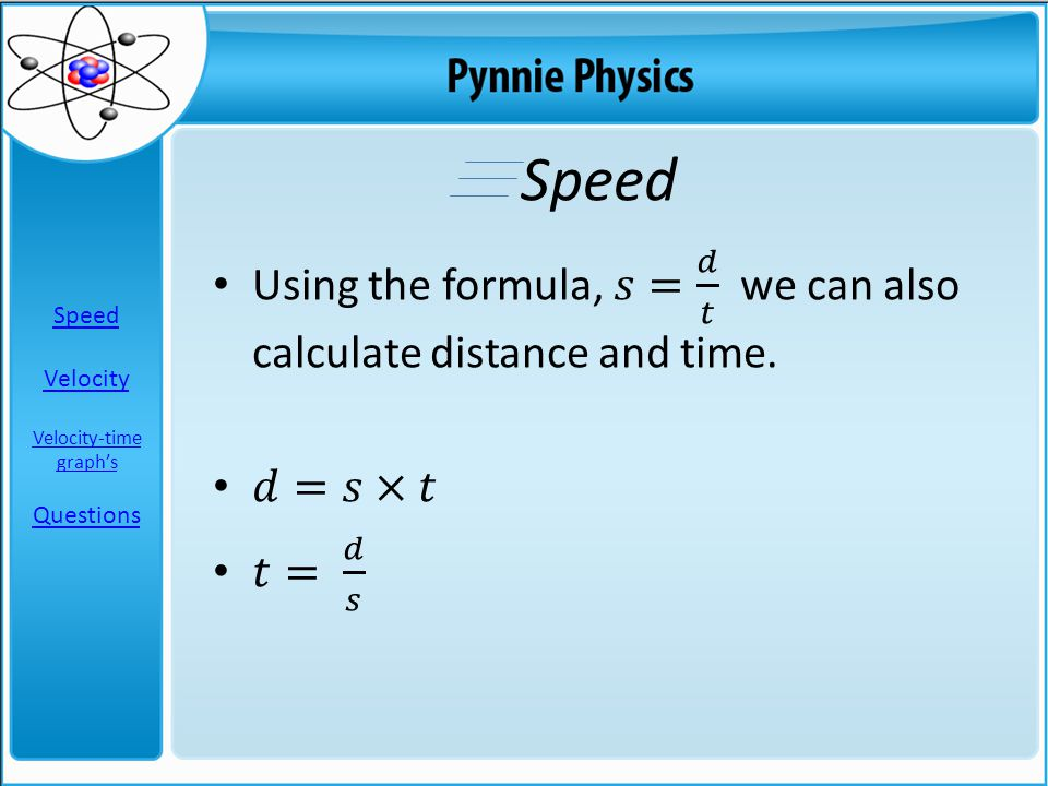 Speed Velocity Velocity-time graph's Questions