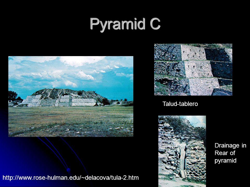 Pyramid C Talud-tablero Drainage in Rear of pyramid http://www.rose-hulman.edu/~delacova/tula-2.htm