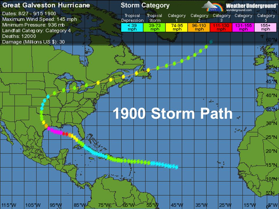 1900 Storm Path
