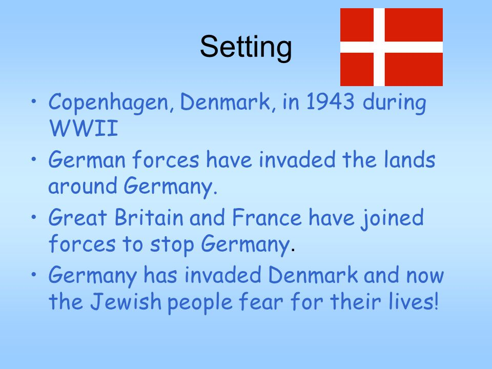 Setting Copenhagen, Denmark, in 1943 during WWII German forces have invaded the lands around Germany.