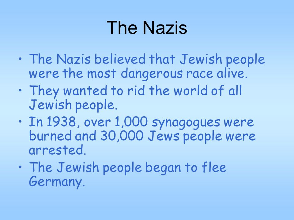 The Nazi Takeover in Europe The Nazi party created Concentration Camps (work camps with horrific conditions for Jewish people).