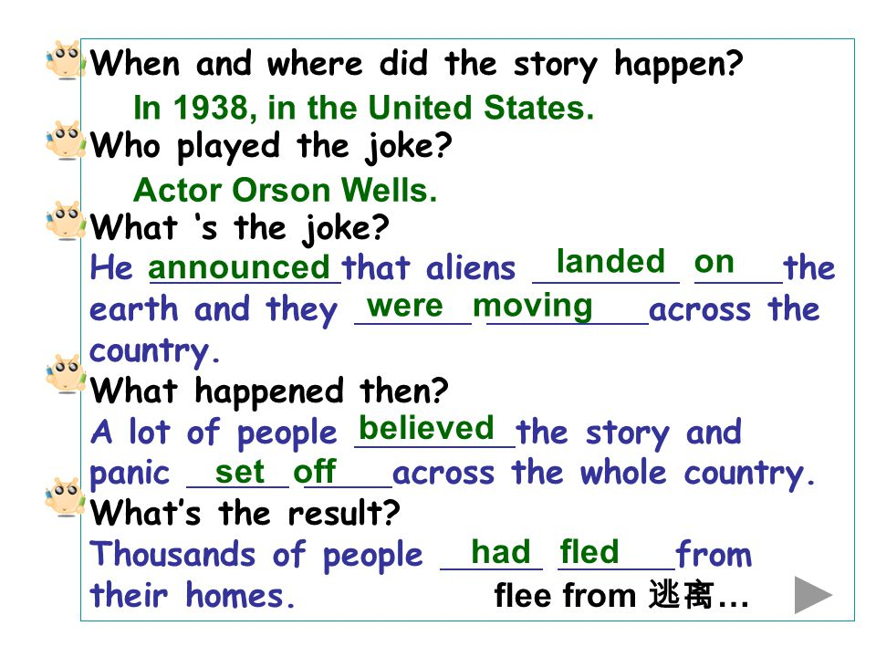 When and where did the story happen. Who played the joke.
