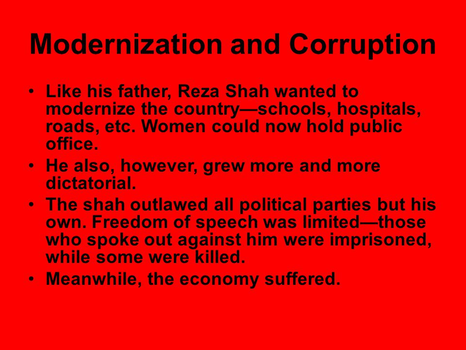 Opposition to the Shah's Rule Huge protests against the shah became common.