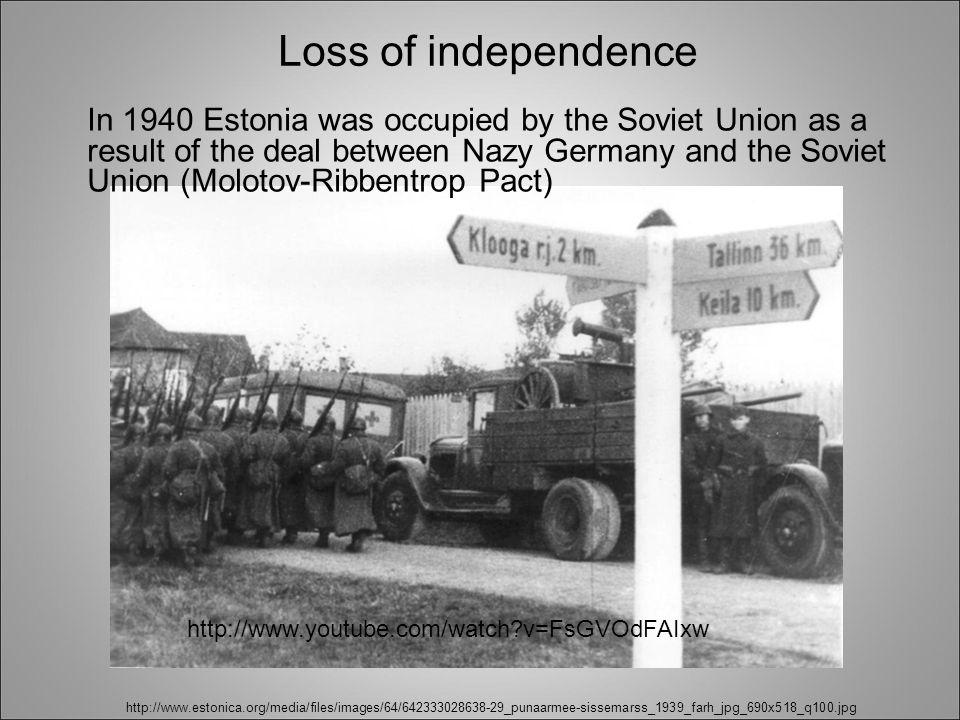 http://www.estonica.org/media/files/images/64/642333028638-29_punaarmee-sissemarss_1939_farh_jpg_690x518_q100.jpg In 1940 Estonia was occupied by the