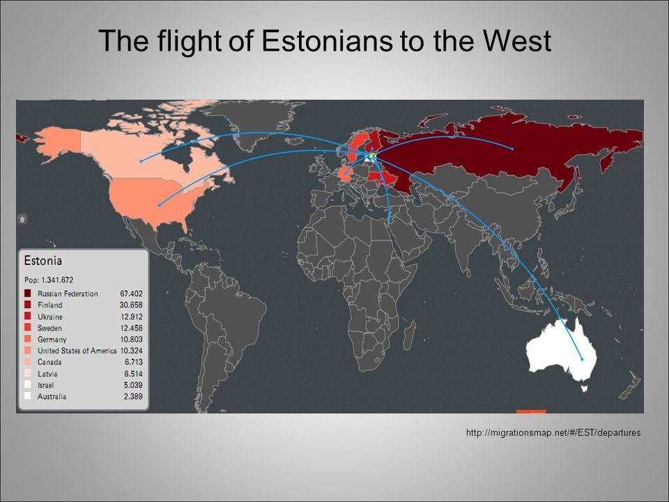 The flight of Estonians to the West http://migrationsmap.net/#/EST/departures