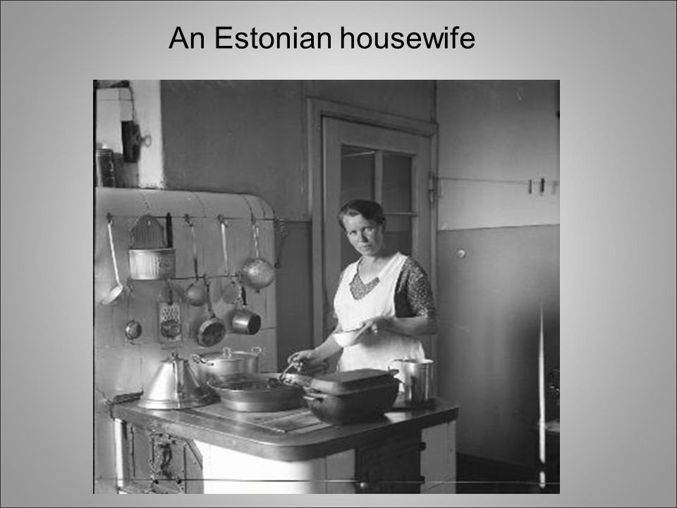 A typical home of an Estonian family