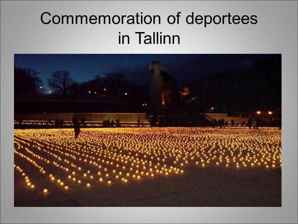 Commemoration of deportees in Tallinn