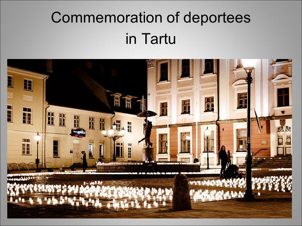 Commemoration of deportees in Tartu