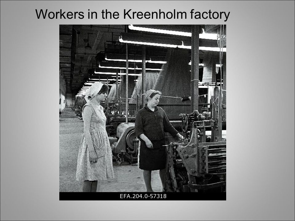 Workers in the Kreenholm factory