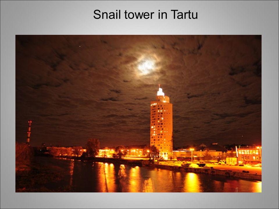 Snail tower in Tartu