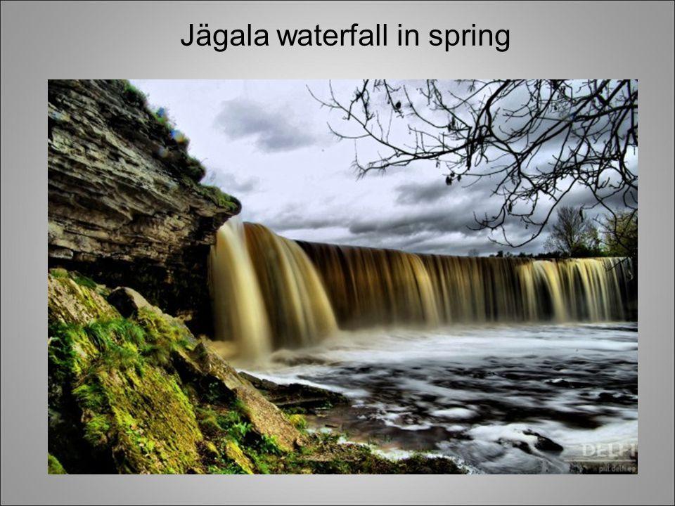 Jägala waterfall in spring