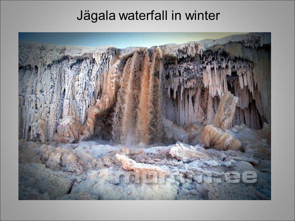 Jägala waterfall in winter