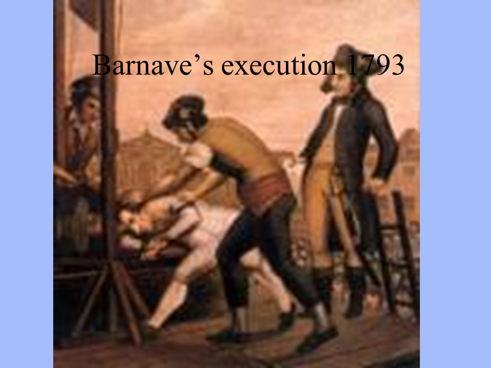 Barnave's execution 1793
