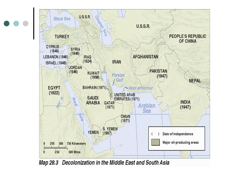 Israel With the end of WWII, the Arab-Israeli conflict became the major political and military problem in the Middle East.